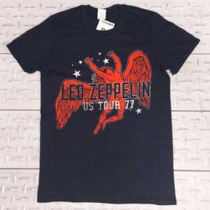 LED ZEPPELIN - US Tour '77 - col. Blu t-shirt