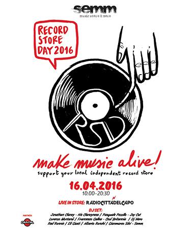 semm store evento record store 2016 Bologna