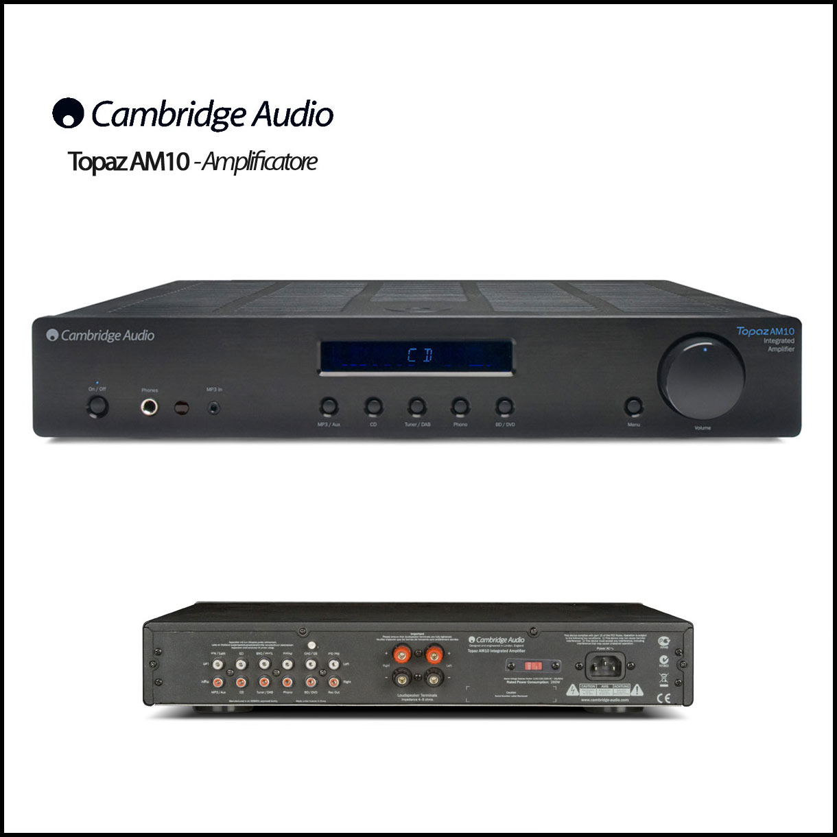 cambrige topaz AM10 amplificatore