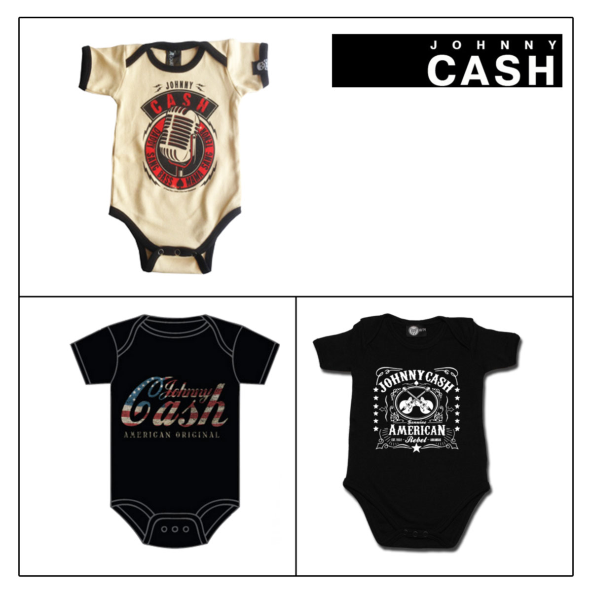 JOHNNY CASH Body Neonato 0-24 mesi