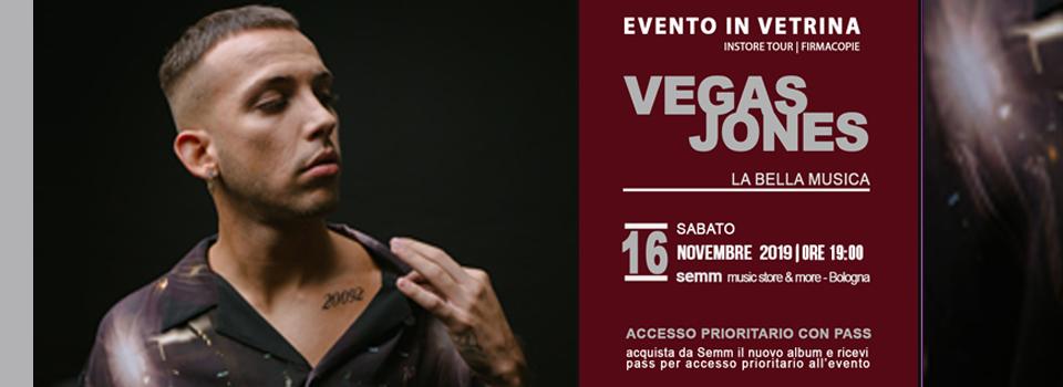 """VEGAS JONES - Firmacopie - album """"la bella musica"""" - Semm Music Store"""