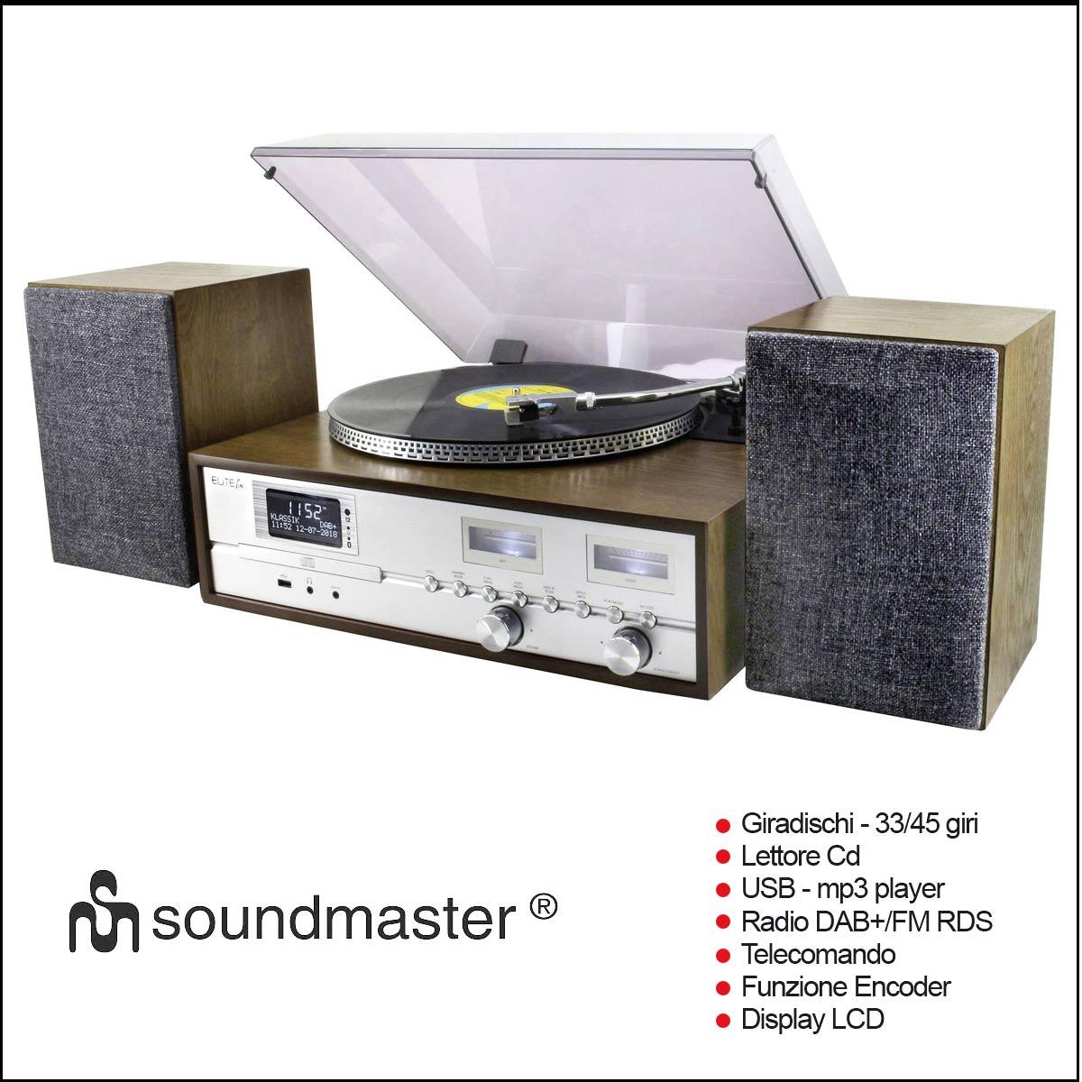Giradischi Soundmaster pl880 a multifunzione