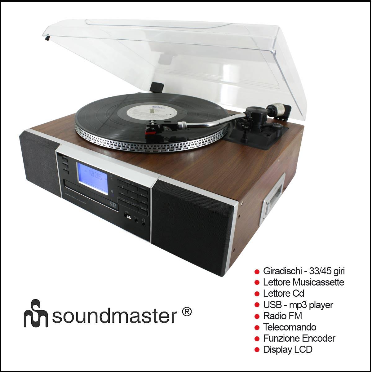 Giradischi Soundmaster pl905 multifunzione