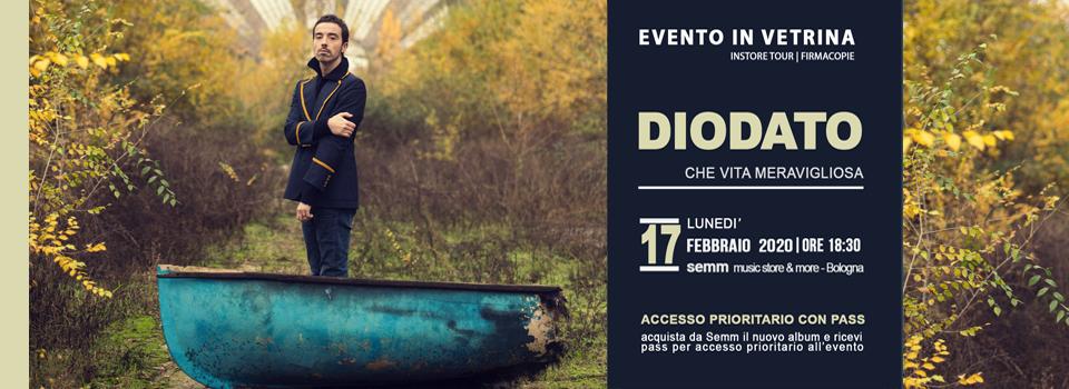 Diodato - Firmacopie - La vita è meravigliosa - Semm music store Bologna