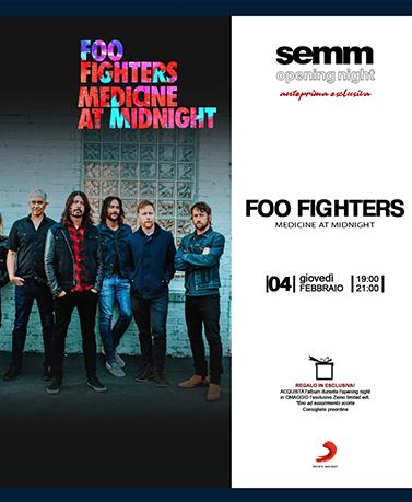 semm store evento open night Foo Fighters Bologna